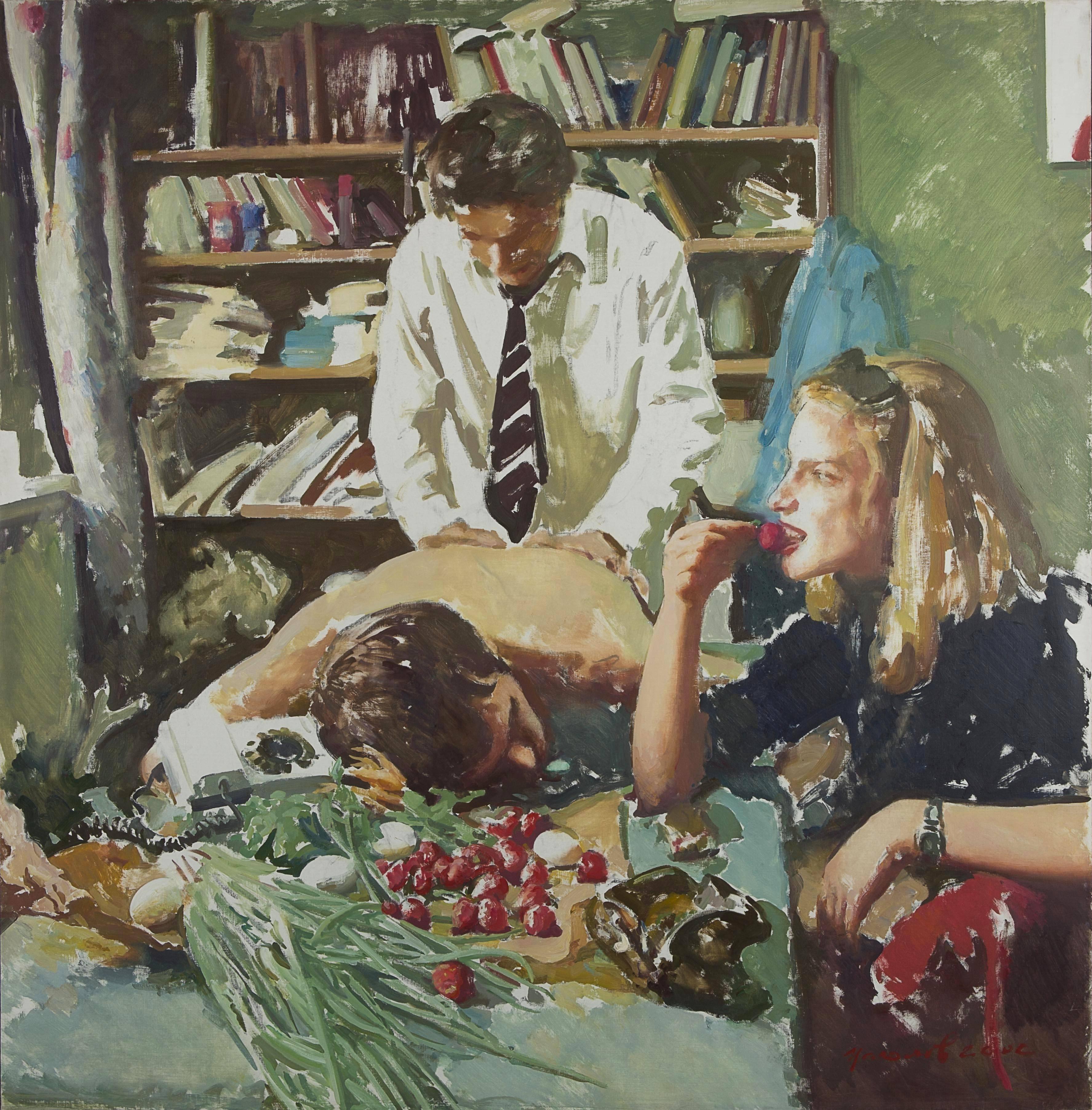 Tsagolov Vasiliy_Love Triangle_150x160 cm_oil on canvas_2005